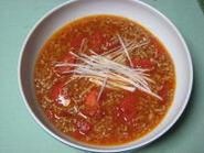 トマトとひき肉のマーボー