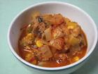 トマトとさば味噌煮のラタトゥイユ