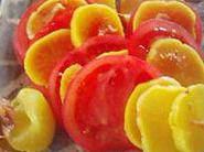 トマトとたくあんの簡単おつまみ