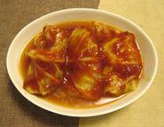 トマトケチャップで作るロールキャベツ