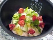 カラフルトマトのトマトご飯