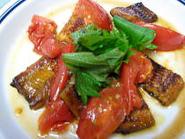 トマトとうなぎの簡単スタミナ丼