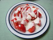 トマトのヨーグルトソースあえ