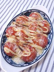 【父の日おつまみ】ミニトマトのパン粉焼き
