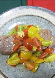 カラフルミニトマトステーキ